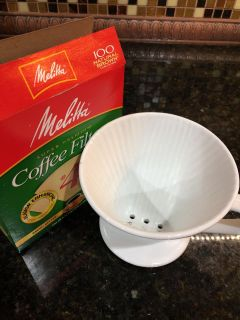 Pour Over Coffee maker and filters