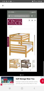 Crate design twin over double bunk bed