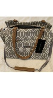 Petunia Pickle Bottom Statement Satchel Quartz Diaper Bag