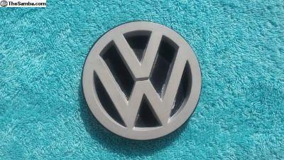 VW Vanagon Rear Tailgate VW Emblem SILVER w/Rubber