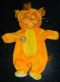 """Disney Lauer Water Babies Doll Simba Lion King Outfit Costume 14"""""""