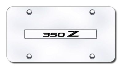 Purchase Nissan 350Z Name Chrome on Chrome License Plate Made in USA Genuine motorcycle in San Tan Valley, Arizona, US, for US $29.87