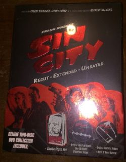 SIN CITY DELUXE TWO-DISC DVD COLLECTION WITH GN NEW