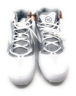 Men s warrior 2nd degree lacrosse cleats white gray size 9.5