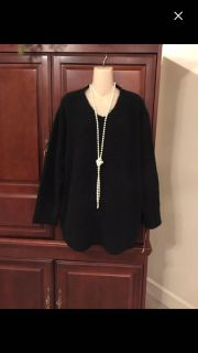 13.00 NWT 3X soft and comfy black sweater. Perfect for winter. Retails 59.00. Great deal!