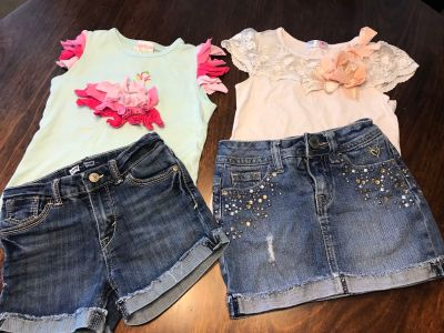 Boutique Lemon loves lime, Justice, May Li Rose, Levi s girls size 6 children summer outfits