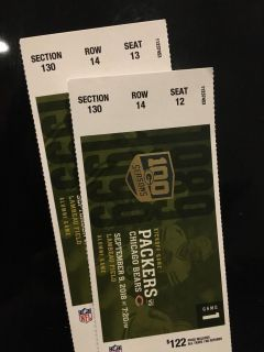 Packers vs. Bears Tickets