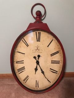 Giant antique-style wall clock