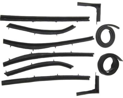 Purchase 1955-1957 Chevrolet Bel Air convertible top roof rail weatherstrip seal set 10pc motorcycle in Dunnellon, Florida, United States, for US $369.00
