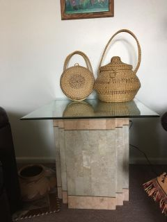 Southwest glass top table