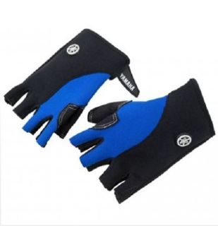 Find Yamaha 3/4 Finger Clarino Palm Neoprene PWC Gloves Blue/Gray Free Shipping motorcycle in Essex, Maryland, United States, for US $24.99