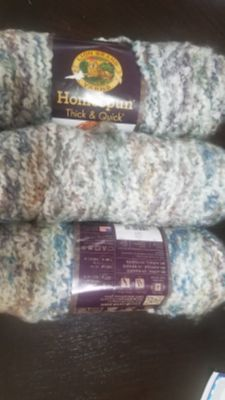3 skeins Lion Brand Homespun Thick & Quick yarn