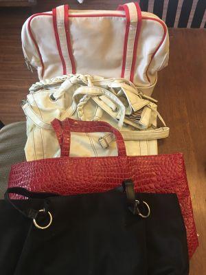 Assorted large handbags