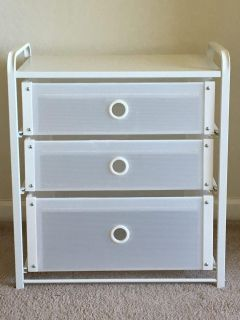 IKEA Lote compact 3-drawer chest, white, gently used - fits inside closet