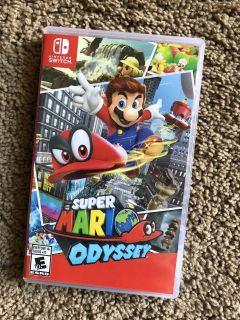 Nintendo Switch Game: Super Mario Odyssey, like new/played few months, $40. Discount for porch pick up.