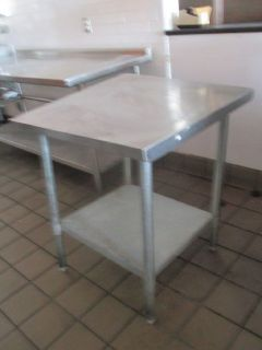 "30"" x 30"" S/S Work Table w/ Undershelf RTR 9043004-19,20"