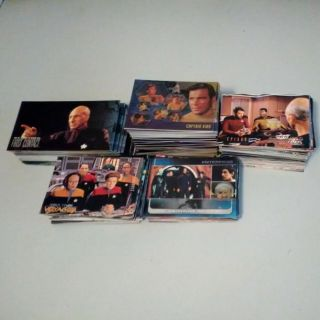 Star Trek collectible trading cards Over a hundred and fifty