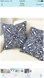 Beautiful brand new 18 inch pillow covers, excellent high quality fabric and craftsmanship
