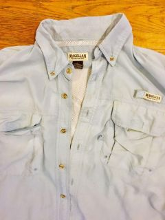 Baby Blue Magellan Fishing Shirt,with vents