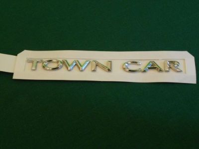 Buy 2003-2011 Lincoln Town Car; Trunk Lid Nameplate TOWN CAR Chrome motorcycle in Columbia, Illinois, United States, for US $48.95