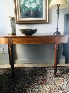 Solid Wood Console Table - Vintage