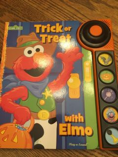 Elmo s trick or treat with sounds book