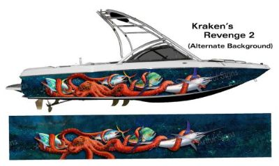 Find The Krakens Revenge 2 Boat Wrap - Customized to Fit Your Boat - Marlin Mahi Tuna motorcycle in Naples, Florida, United States, for US $795.00