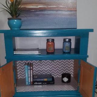 """Teal Solid Wood TV Stand up to 32""""TV"""