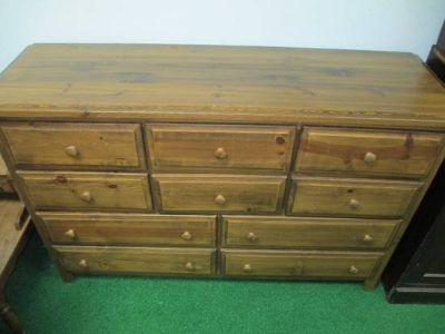 Solid Wood 10 Drawer Lowboy Dresser - Delivery Available