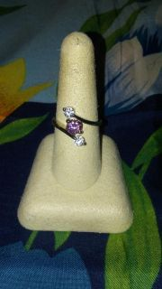 Pretty ring with pink gem