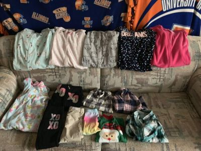 Sleepers, shirts and a couple pairs of pants
