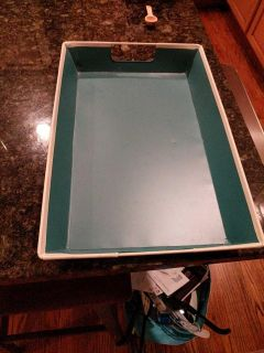 Teal tray