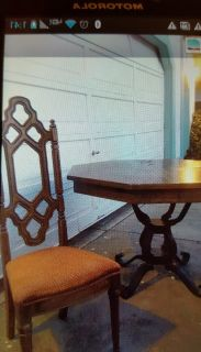 Vintage dining table/chairs