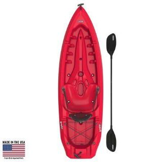 Lifetime Daylite 80 Sit-On-Top Kayak (Paddle Included), Red, 90775