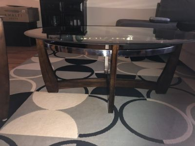 Alcove Beveled Glass Coffee Table