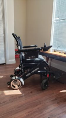 Air hawk foldable electric wheelchair