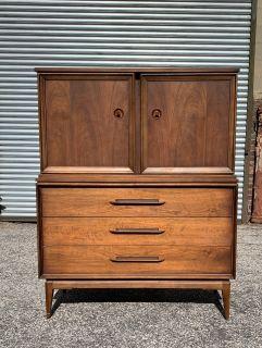 Mid Century Modern Vintage Tall Dresser
