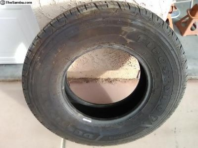 235/75r15 firestone LE2 tire like new X1