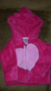 Girls pink jacket size 6 to 9 months
