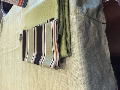 Material and tablecloth for table sold June 21