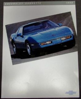 Sell Original 1986 Chevrolet Corvette Dealer Sales Brochure Leaflet Sports Car motorcycle in Holts Summit, Missouri, United States, for US $11.86