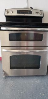 Samsung side by side refrigerator and ge electric stove