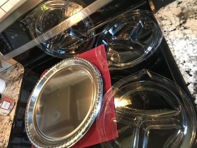 15 inch plastic serving tray and 3 plastic dividers rate for picnics