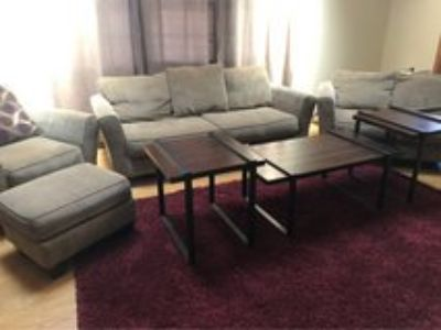 Sofa, Loveseat, Chair, ottoman, 2 end tables and coffee table. $500 or best offer