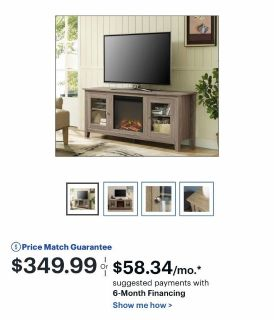 Electric heater tv stand