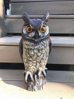 Scarecrow Great Horned Owl