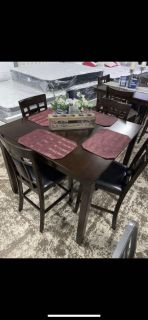 5- piece set counter height table