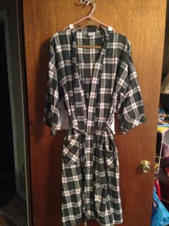 Puritan one size fits all Flannel Robe. Unisex