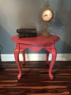 Pink end table