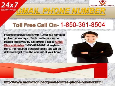 Gmail Phone Number – A Doorstep Technical Aid Provider 1-850-361-8504